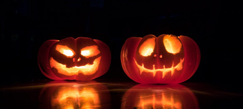 Deux citrouilles Halloween