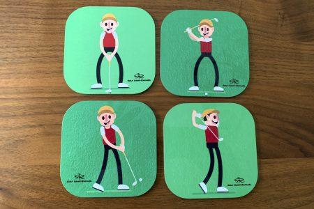 sous-verres golf