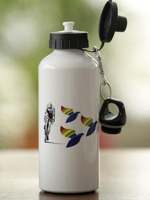 bouteilles d'eau en aluminium