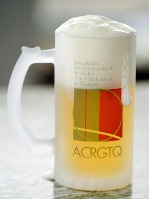 choppe de bière avec logo