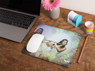 Tapis de souris avec flutiste en imprimé