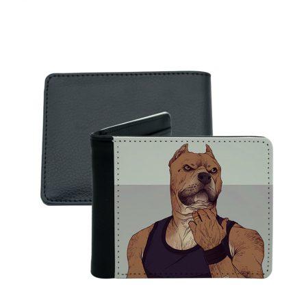 portefeuille pour homme illustration de chien