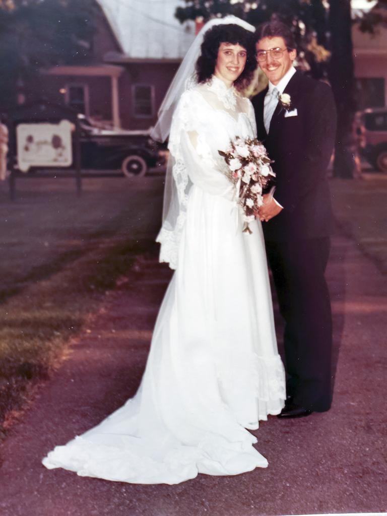 Sylvie Laflamme et Michel Loiselle le jour de leur mariage